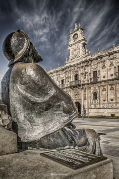The Pilgrim - Leon, Spain. ** I hope to see this for myself in the next year.