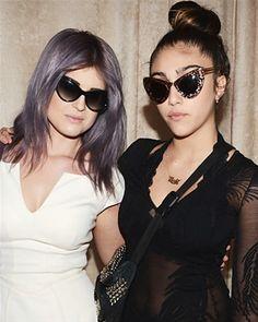 grey purple hair - Kelly Osbourne