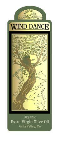 olive+oil+label+design | Wind Dance Olive Oil; Bottle label design
