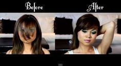 How to Cut Bangs | Cute Hair by Makeup Tutorials at http://www.makeuptutorials.com/how-to-cut-bangs-hair-tutorial
