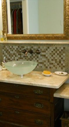 KCK bathroom remodeling rip - Bathroom Design Idea: The Furniture Look | use a few tricks to alter a bathroom vanity into a furniture-style piece.