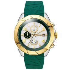 Ρολόγια : Ρολόι BREEZE Cutting-Edge Chrono Green Rubber Strap - 110231.6 Luxury Watches, Rolex Watches, Fall Winter 2014, Gold Watch, Chronograph, Omega Watch, Breeze, Blue, Accessories