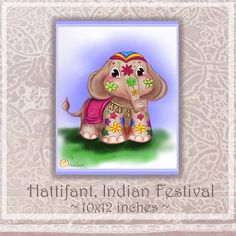 Art Print by Hattifant: Indian Elephant