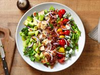 Grilled Summer Squash Salad with Arugula, Ranch Tomatoes and Tarragon Vinaigrette : Recipes : Cooking Channel