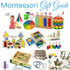 Montessori gifts | toys and present ideas for babies, toddlers and preschoolers.