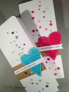 Pretty card.  Change the heart to a cupcake or present for Birthday card.