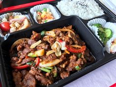 Yep. This is what's for lunch. Delicious @thebentoplace spicy pork!! New post up on itsborderlinegenius.com today!