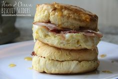 Ham and Cheese Biscuit Sliders - Mix and Match Mama