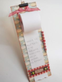 objective: scrap: Tutorial: different notebook Cute Crafts, Creative Crafts, Crafts To Make, Arts And Crafts, Paper Crafts, Craft Fair Displays, Clipboard Crafts, Ideias Diy, Note Paper