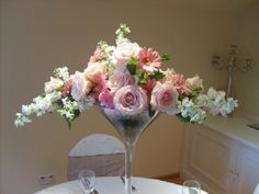 Elegant Tall Flower Arrangements | Martini Vases-Martini Vases Manufacturers, Suppliers and Exporters