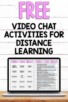 Fun Video Chat Activities to Try During Distance Learning - Educate with Ease Learning Resources, Fun Learning, Teaching Strategies, Teaching Ideas, Virtual Class, Virtual Reality, Virtual Games, Class Meetings, Online Classroom