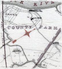 Christina Ray - Embroidery and maps! Love the idea.