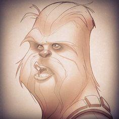 Chewbacca sketch by Javas