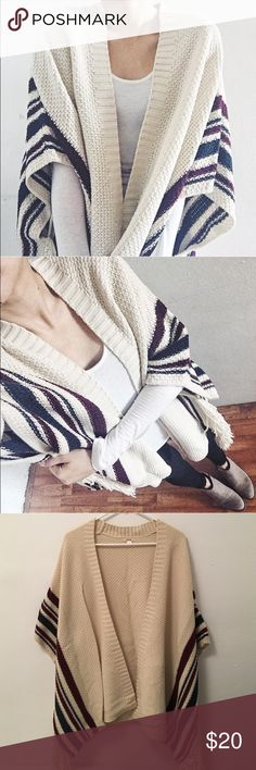 Open front cardigan with tassels 100% acrylic Timing Sweaters Cardigans
