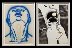 "Kiki Kogelnik's ""Moon"", from 1974 (left) and ""Female Robot"" from 1964"