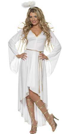 adult angel costume make with more modest top - Modest Womens Halloween Costumes