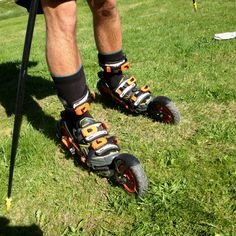 The Skike skate is the new skiing, but rollerblade style.