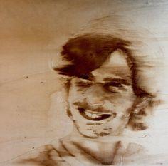 Coffe artwork- poirtait on wood