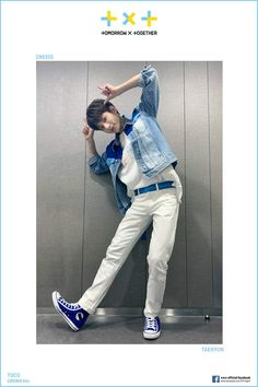 """TXT Austria ✈ on holiday on Twitter: """"Facebook Update mit Taehyun (2) @txt_members #TXT #TOMORROW_X_TOGETHER #Taehyun… """" Thing 1, Latest Albums, Young Ones, South Korean Boy Band, White Jeans, Khaki Pants, Clothes, Style, Taehyung"""