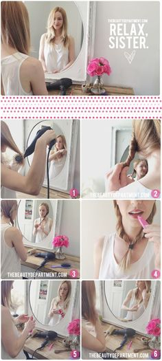 Different way to blow dry