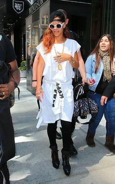 Rihanna in Rihanna x River Island's Cutout Booties - The Fashion Bomb Blog : Celebrity Fashion, Fashion News, What To Wear, Runway Show Reviews