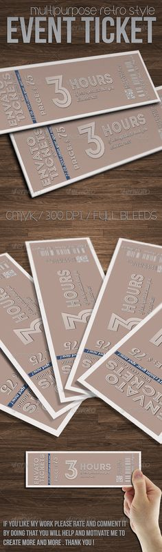 Multipurpose vintage ticket template @creativework247 Cards - create tickets template