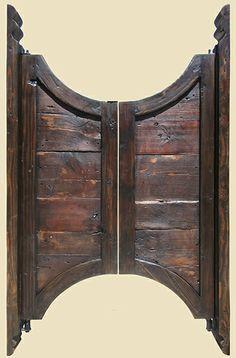 Bar Saloon Doors with Carved Jamb & Custom Full Length Cafe Doors/ Saloon Interior Doors | Garages ... Pezcame.Com