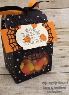 Jan Girl: Stampin' up Happy Haunting and A little Something Baker's Box treat