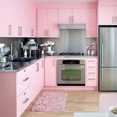 pink dream  I just might start cooking in this kitchen...