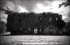 Abandoned Ireland. Eyrecourt House. Eyrecourt Castle was built by John Eyre in 1660. Colonel John Eyre an English nobleman, had arrived in Ireland during the Cromwellian Wars and was granted large tracts of land in East Galway for his service to Cromwell. He settled on the site of an O'Madden castle and set about building his mansion and founding the village of Eyrecourt. In 1679 the land consisting of about 10,500 acres was consolidated into a manor with the right to hold a weekly market.