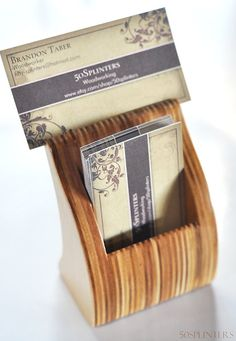 Uptight Business Card Holder by 50splinters on Etsy, $20.00