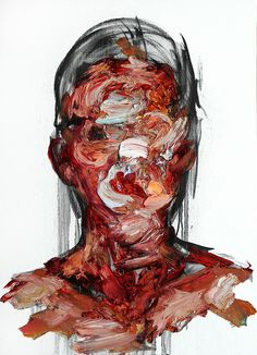 """narabean: """"some of the beautiful oil paint & charcoal abstract portraits on Canvas by KwangHo Shin """""""