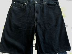 LEVI'S 550 SHORTS MENS 38 BLACK JEANS RELAXED FIT DENIM RED TAB LEVI 5 POCKET #Levis #Denim