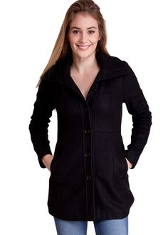 Hooded Winter Jacket J30539B, clothing, clothes, womens clothing, jeans, tops, womens dress