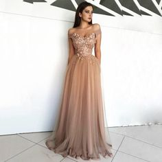 Champagne tull, lace applique sexy luxury ball gown special occasion party dress · prom dress · Online Store Powered by Storenvy Mint Bridesmaid Dresses, Prom Dresses 2017, Prom Dresses Online, Prom Party Dresses, Evening Dresses, Formal Dresses, Prom Dreses, Graduation Dresses, Dress Prom