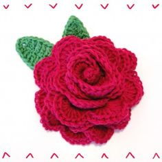 Hæklet rose - Garn Grammatik