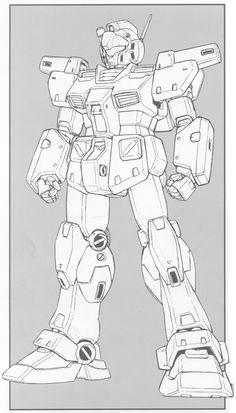 "// dicksmcghee: GM Custom ""During its. Coloring Books, Coloring Pages, Robot Sketch, Robots Drawing, Japanese Robot, Retro Robot, Sketches Tutorial, Gundam Art, Robot Concept Art"