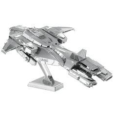 Halo Unsc Pelican Fun 3D Metal DIY Miniature Model Kits Puzzle Toys Children Educational Boy Splicing Hobby Building Science #Affiliate