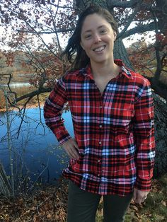 A New Favorite Fall Shirt–Simplicity 1538 in Robert Kaufman Mammoth Flannel | Pattern and Branch