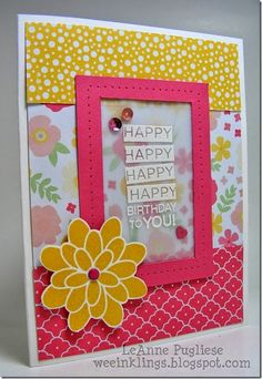 LeAnne Pugliese WeeInklings Awesome Birthday Stampin Up Flower Patch