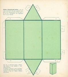 Solidi Geometrici Geometric Box, Geometric Artwork, Geometric Shapes, Geometry Activities, Paper Art, Paper Crafts, Freebies, Diy Origami, Slab Pottery