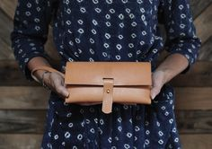 The Holland Clutch | Shelter for Madesmith... Love the indigo dress!