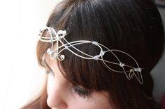 Elf Silver knots and spirals Circlet   etsy.com