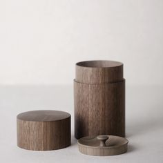 Walnut Tea Leaf Canister - Amanda would love this, especially the top!