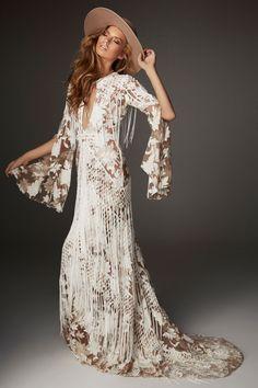 Bohemian Mode, Bohemian Style, Boho Chic, Modern Bohemian, Vintage Bohemian, Vestidos Vintage, Vintage Dresses, Bridal Gowns, Wedding Gowns