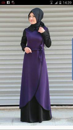 Islamic Fashion, Muslim Fashion, Modest Fashion, Fashion Dresses, Abaya Fashion, Fashion Wear, Boho Fashion, Princes Dress, Modele Hijab