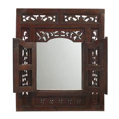 Ruji Mirror, Light Mahogany