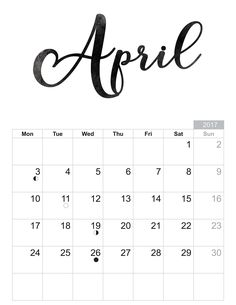 2017 April - Free printable Sheet