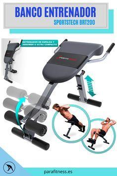 Ordenador de Entrenamiento para Fitness, musculaci/ón, perdida Peso, 4 Niveles dificultad, Azul Klarfit AB Cruncher Aparato de Abdominales Plegable