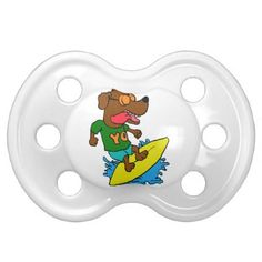 Surfing dog pacifier - dog puppy dogs doggy pup hound love pet best friend